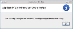 app blocked - java