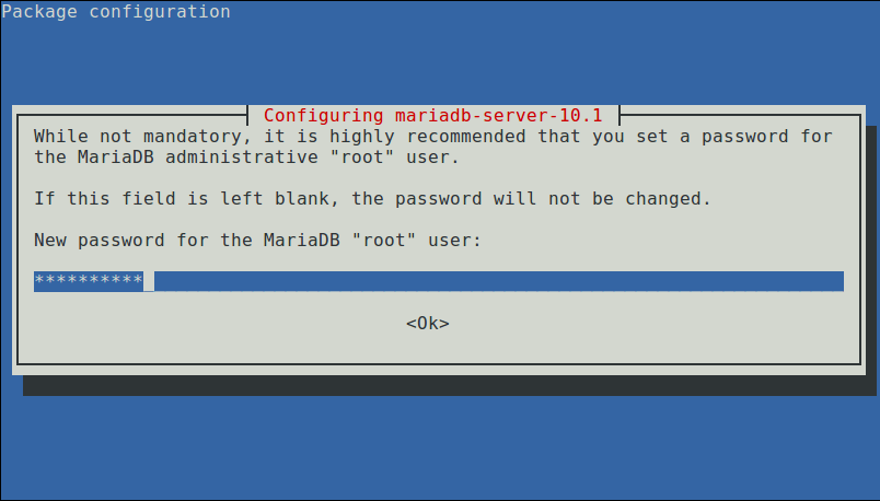 Set New Root Password for MariaDB
